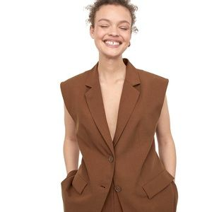 Fendi brown Sleeveless jacket
